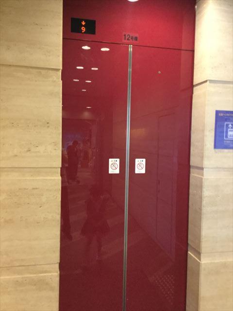 NHK大阪放送局9階直通エレベーター