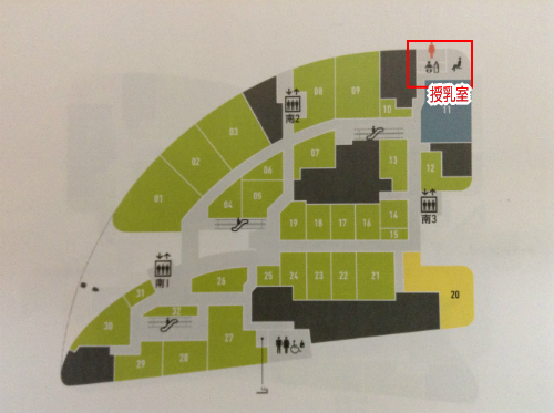 グランフロント大阪南館4階地図
