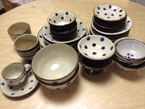 喫茶ハピルで購入した沖縄食器やちむん
