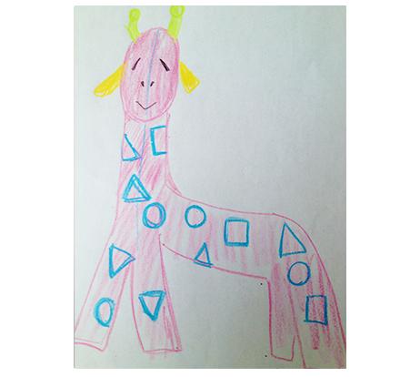 子供が描いたキリン