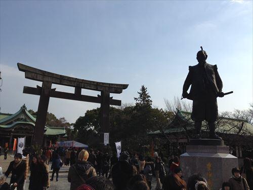 豊国神社入り口付近