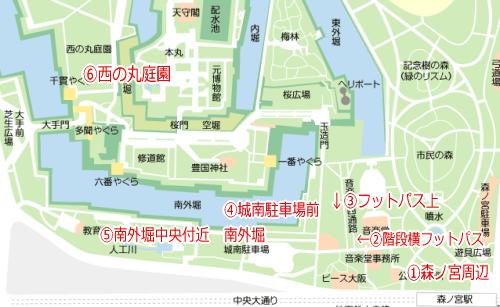 桜満開、大阪城のお花見スポット情報