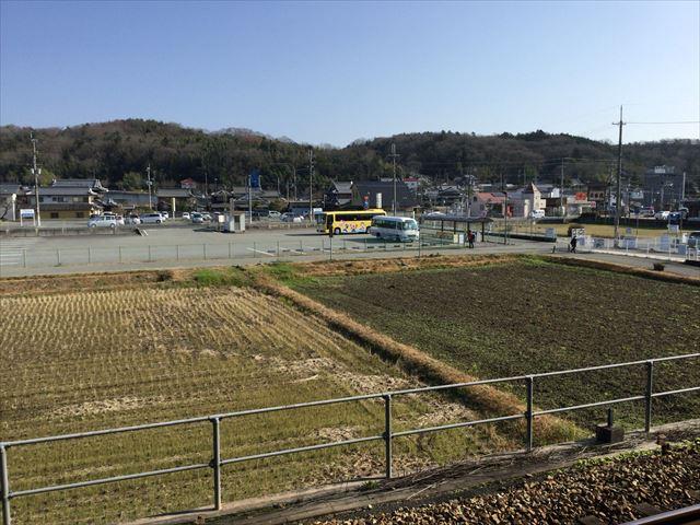 JR新三田駅から見た送迎バス乗り場
