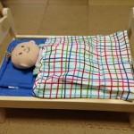 お世話人形ベビーステラにIKEAの人形用ベッドを購入したらピッタリだった