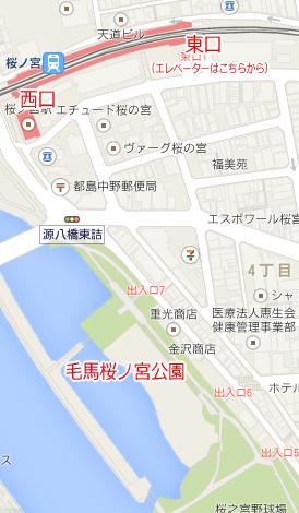 毛馬桜ノ宮公園地図