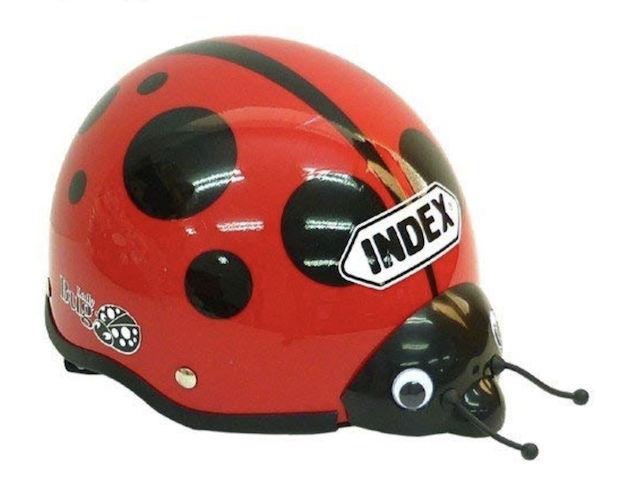 てんとう虫子供用ヘルメット