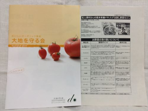 オーガニック野菜宅配「大地を守る会」のお試しセットを購入・紹介