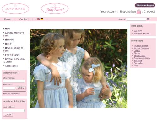 「ANNAFIE」ホームページ