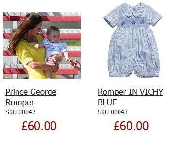 ジョージ王子着用の子供服「ANNAFIE」