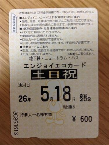 大阪指定地下鉄一日乗車券エンジョイエコカード