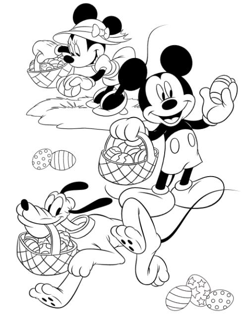 ミッキー&フレンズ・ディズニー. ミッキー&フレンズぬりえ
