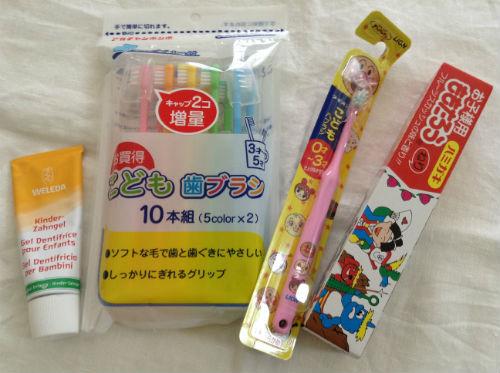 子供の歯磨き(歯ブラシ・歯磨き粉)