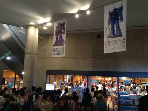 ガンダム展のミュージアムグッズが大混雑