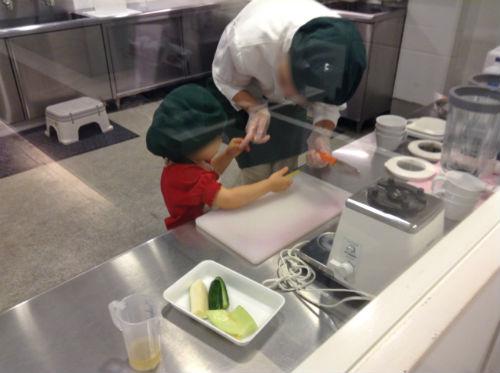 キッザニアのお仕事・野菜ジュース作り