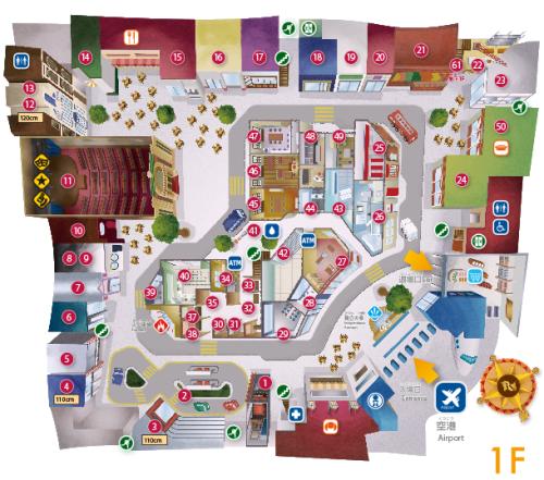 キッザニア甲子園フロアーマップ1階