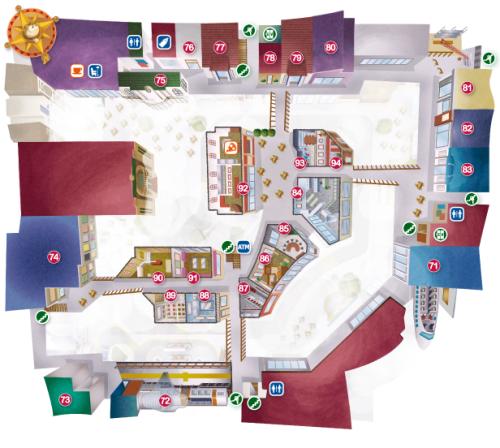キッザニア甲子園フロアーマップ2階