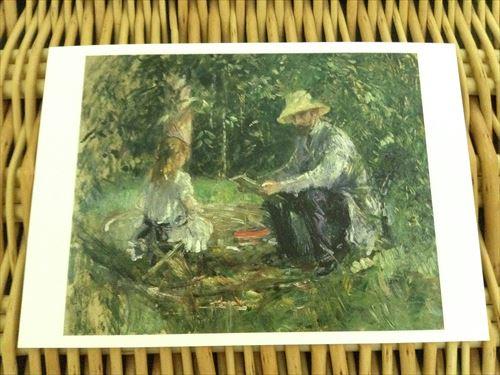 ベルトモリゾ「庭のウジェーヌマネとその娘」