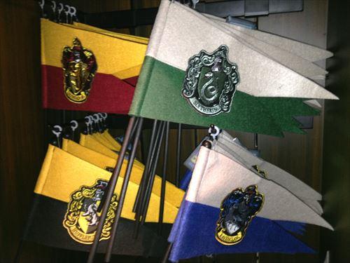 グリフィンドール・スリザリン・レイブンクロー・ハッフルパプのミニ旗