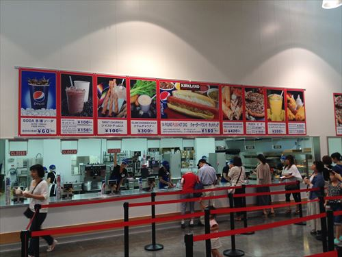 コストコ和泉倉庫店(1日特別招待券)フードコート