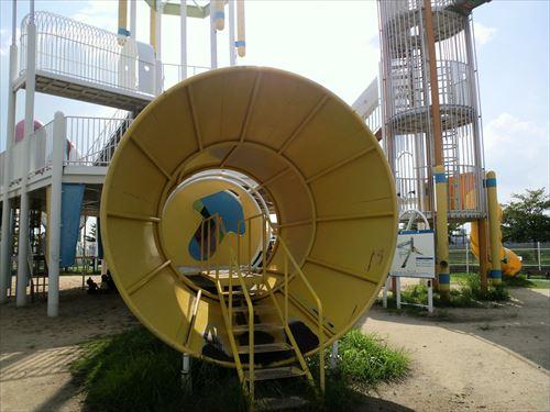 花園中央公園の大型遊具・ラガーステーション