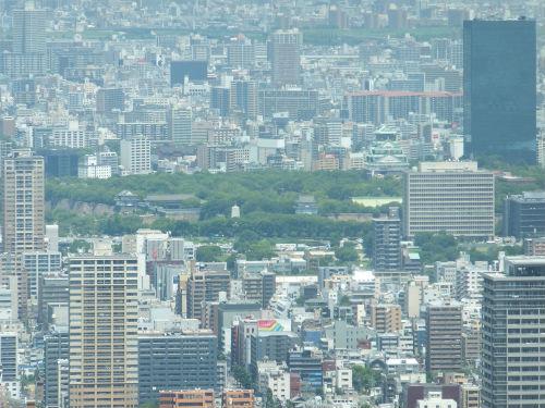 ハルカス300からの眺め・大阪城