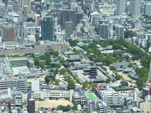 ハルカス300からの眺め・四天王寺