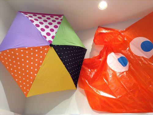 レインボースペクトラム・ルクア大阪店・傘とレインコート