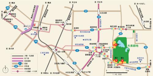 大泉緑地アクセスマップ