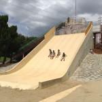大泉緑地の大型遊具公園③「冒険ランド」大型滑り台
