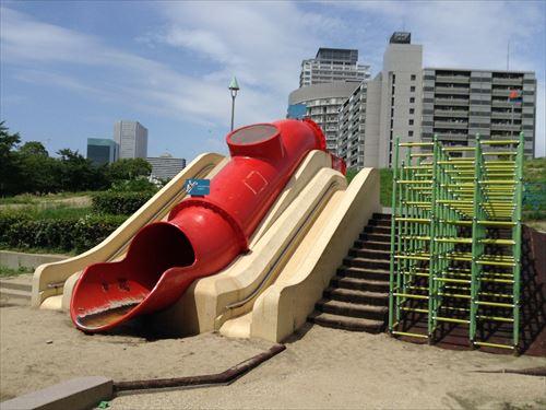 扇町公園の大型遊具公園