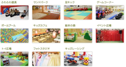 ピュアハートキッズランド伏見桃山の室内遊具施設