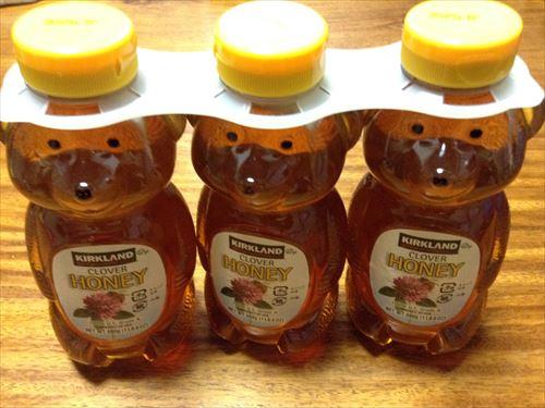 コストコで購入したクマの容器に入った蜂蜜3個セット