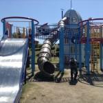 深北緑地・ロケット広場・滑り台