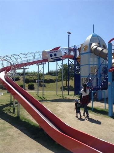 深北緑地・ロケット広場・ロング滑り台