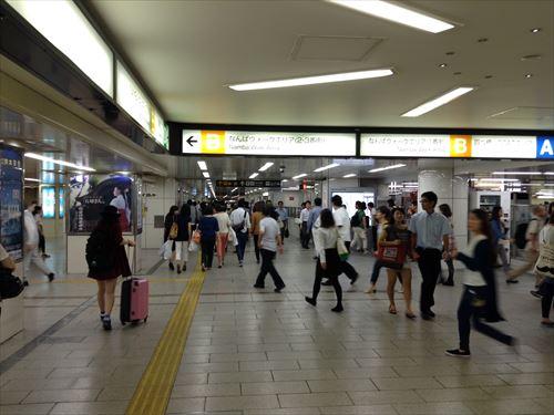 JR難波駅から南海なんば駅に行く方法