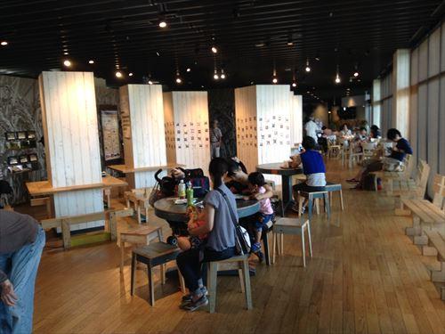 京都水族館ハーベストカフェ店内
