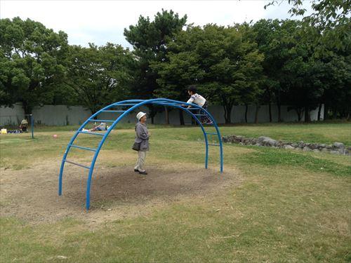 久宝寺緑地・まいまい広場・うんてい