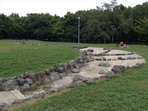 久宝寺緑地・まいまい広場・丘の上から