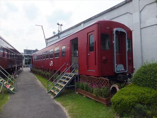 梅小路蒸気機関車館・電車内に入ることが出来る