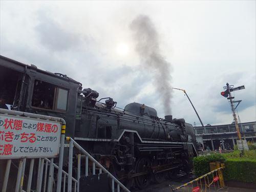 梅小路蒸気機関車館・SLスチーム号に乗車