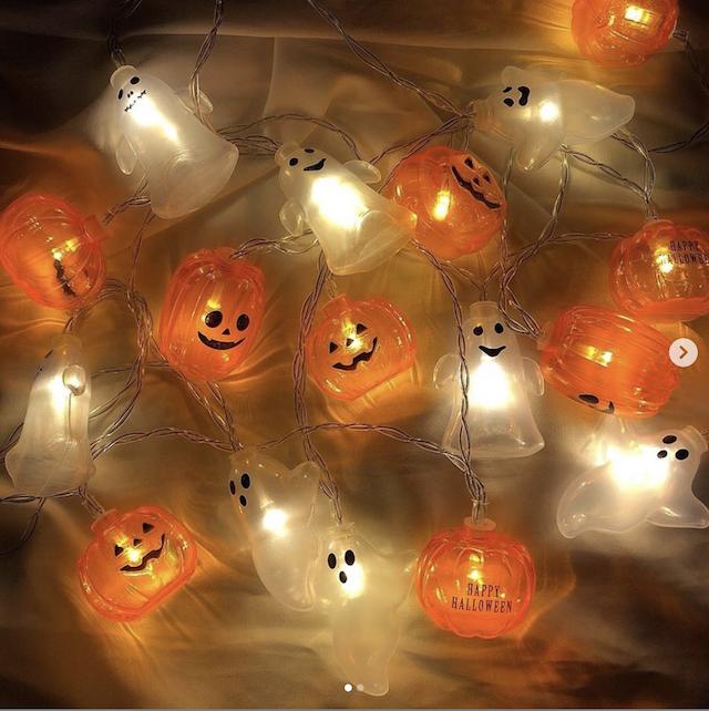 3COINSハロウィン2019年新作「かぼちゃ&おばけライト」
