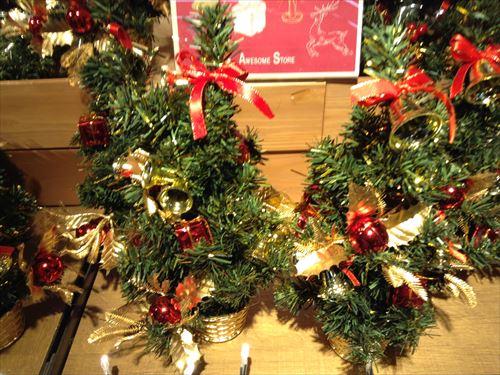 オーサムストアのクリスマスグッズ・ミニツリー