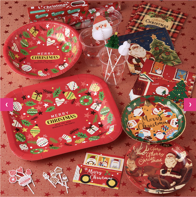 ダイソークリスマスグッズ2019年新作・紙皿やピック