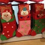 ダイソーのクリスマスグッズ・クリスマスパーティー・プレゼントを入れる靴下