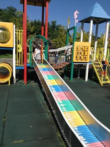 深北緑地・とりで広場・幼児向け公園・ロング滑り台
