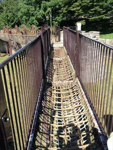 深北緑地・とりで広場の橋