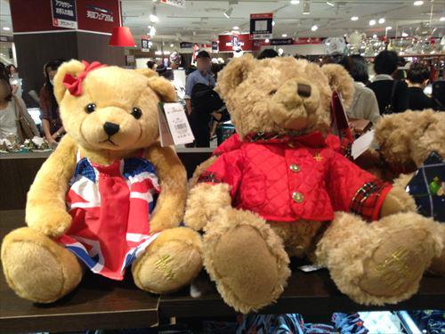 阪急百貨店・英国フェア2014・テディベア