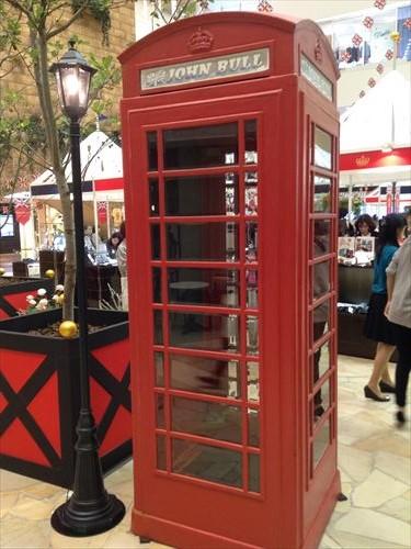 阪急百貨店・英国フェア2014・電話ボックス