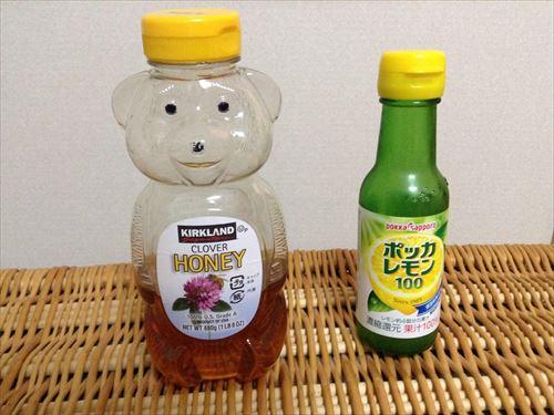 喉の痛みに濃厚蜂蜜レモン・材料