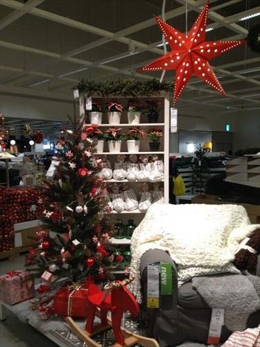 IKEAクリスマスお部屋の飾りつけ